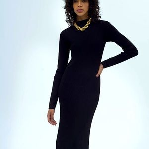 Musier NWT knit midi dress backless long sleeve 4